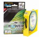 Плетеная леска Power Pro 92м Hi-Vis Yellow 0,13мм