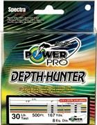 Плетеная леска Power Pro 100м Depth Hunter Multicolor 0,32мм