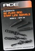 Вертлюжок для Комбинированного Поводка ACE QC Flexi Ring\Stiff Link Swivel Size 8