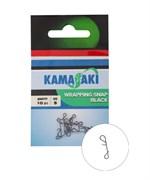 Безузловая Застёжка Kamasaki Not a Knot Black L 10шт/уп