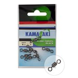Вертлюг Kamasaki Rolling Swivel Black #8 10шт/уп