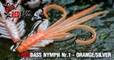 Мягкая Приманка Redbass №1- S 53мм Orange/Silver 5шт/уп