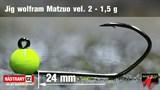Джиг-головка Вольфрамовая Matzuo №2, Fluo/Black 1,5гр 5шт/уп