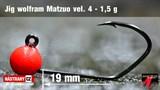 Джиг-головка Вольфрамовая Matzuo №4 Red/Black 1,5гр 5шт/уп