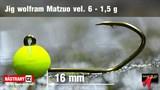 Джиг-головка Вольфрамовая Matzuo №6 Fluo/Black 1,5гр 5шт/уп