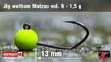 Джиг-головка Вольфрамовая Matzuo №8 Fluo/Black 1,5гр 5шт/уп