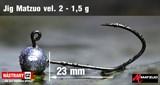 Джиг-головка Matzuo №2 Black 1,5гр 5шт/уп