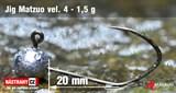 Джиг-головка Matzuo №4 Black 1,5гр 5шт/уп