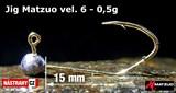 Джиг-головка Matzuo №6 Gold 0,5гр 5шт/уп