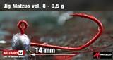 Джиг-головка Matzuo №8 Red 0,5гр 5шт/уп