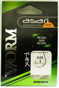 Готовый Поводок Asari Worm Pro №4, 0,30мм, 120см 10шт/уп