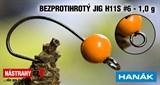 Джиг-головка Вольфрамовая Hanak Крючок Безбородый H11S №6 Orange/Black 1,0гр 5шт/уп