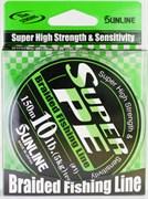 Леска Плетёная Sunline Super Pe Dark Green 150м #0.6 6Lb 3кг