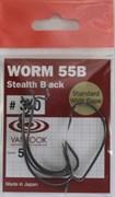 Крючки Офсетные Vanfook Worm 55B №3/0 5шт/уп Stealth Black