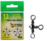 Вертлюги Тройные Fish Season Cross-Line Swivel №12, 14кг
