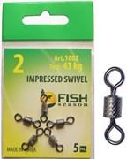 Вертлюжок Fish Season Impressed Swivel 12