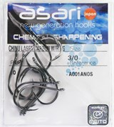 Крючки Asari Chinu Carbon Nickel №3/0 10шт/уп