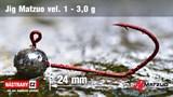 Джиг-головка Matzuo №1 Red 3,0гр 5шт/уп