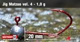 Джиг-головка Matzuo №4 Red 1,0гр 5шт/уп