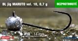 Джиг-головка Maruto Крючок Безбородый №10 Black 0,7гр 5шт/уп