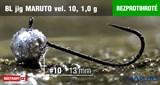Джиг-головка Maruto Крючок Безбородый №10 Black 1,0гр 5шт/уп