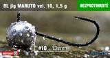 Джиг-головка Maruto Крючок Безбородый №10 Black 1,5гр 5шт/уп