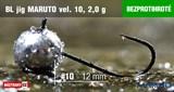 Джиг-головка Maruto Крючок Безбородый №10 Black 2,0гр 5шт/уп