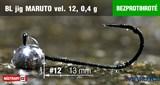Джиг-головка Maruto Крючок Безбородый №12 Black 0,4гр 5шт/уп