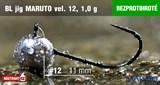 Джиг-головка Maruto Крючок Безбородый №12 Black 1,0гр 5шт/уп