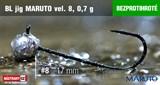 Джиг-головка Maruto Крючок Безбородый №8 Black 0,7гр 5шт/уп
