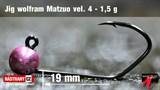 Джиг-головка Вольфрамовая Matzuo №4 Pink/Black 1,5гр 5шт/уп