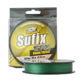 Плетеная леска Sufix SFX Braid зеленая 135м 0,14мм 8кг