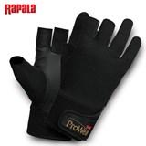 Перчатки рыболовные без трех пальцев Rapala ProWear Titanium HT размер M