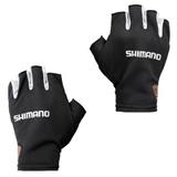 Перчатки Shimano MS Sun Shade Glove5 Short GL-008N Черный Серебро размер L