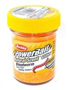Форелевая Паста Berkley Natural Scent TroutBait Bloodworm Fluorescent Orange 50гр