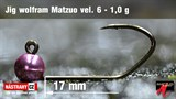 Джиг-головка Вольфрамовая Matzuo №6 Pink/Black 1,0гр 5шт/уп