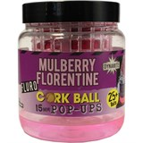 Бойлы плавающие Dynamite Baits 15мм. Mulberry Florentine Fluro Cork Ball