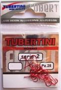 Крючки Tubertini series 2 Rosso № 19 25шт/уп