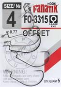 Крючки Офсетные Fanatik Offset FO-3315 №04 5шт/уп