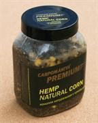 Прикормка Карпомания Premium Конопля Натуральная с Кукурузой. Банка 700гр