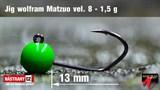 Джиг-головка Вольфрамовая Matzuo №8 Green/Black 1,5гр 5шт/уп