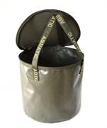 Ведро Aquatic В-04 для замешивания прикорма с крышкой ПВХ, герметичное, хаки
