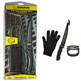 Набор: металлизированная перчатка, нож, точилка. Kosadaka GKS1