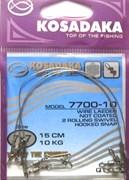 Поводок Kosadaka Professional 7x7 22см 28кг 3шт/уп