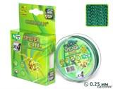 Леска Плетёная Spider Green 100м 0.25мм 22,2кг