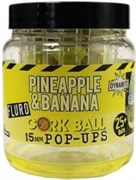 Бойлы плавающие Dynamite Baits 15мм Pineapple & Banana Fluro Cork Ball