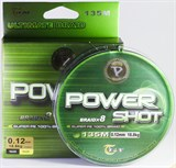 Леска Плетёная JinTai Power Shot x8 135м 0,10 16,0кг Green