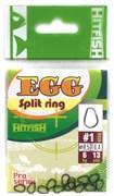 Заводное кольцо Hit Fish Egg Split Ring #00 Титан 4кг 13шт/уп