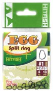 Заводное кольцо Hit Fish Egg Split Ring #3 Титан 10кг 13шт/уп