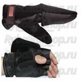 Перчатки-варежки Kosadaka Fire Wind флис/неопрен чёрные, р-р XL